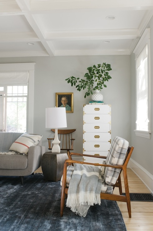 Gray Paint Colors Vintage Living Room Sherwin Williams Aloof Gray Emi