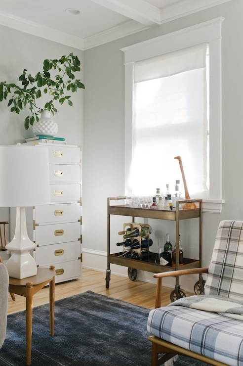 Tall Campaign Chest Vintage Living Room Sherwin