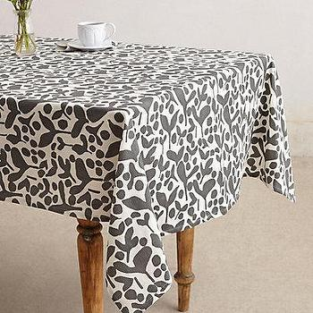 Decor/Accessories - Pea Pods Tablecloth I anthropologie.com - gray and white tablecloth, gray and white floral tablecloth, gray and white floral print tablecloth,