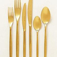 Decor/Accessories - Doma Flatware I anthropologie.com - gold flatware, gold cutlery, contemporary gold flatware,