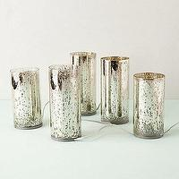 Decor/Accessories - Mercury Lantern Lights I anthropologie.com - mercury candle holder, mercury glass lantern lights, mercury glass candle lanterns,