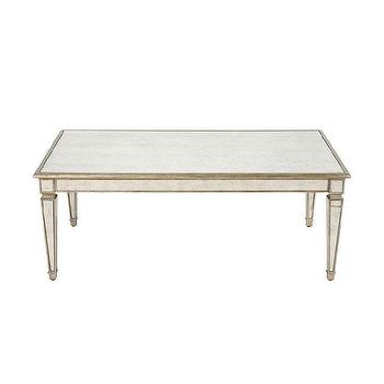 Tables - Vivica Coffee Table I Ethan Allen - antiqued mirrored coffee table, mirrored coffee table, antique mirror coffee table, antiqued mirrored cocktail table,