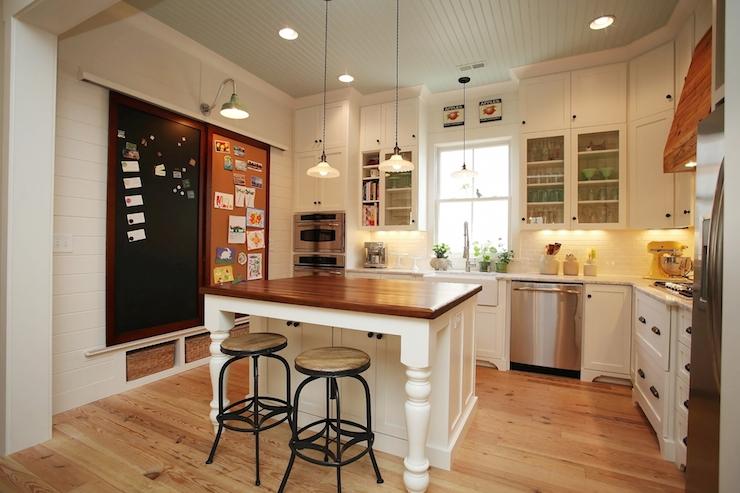 Kitchen chalkboard vintage kitchen new old for Ceiling height kitchen cabinets