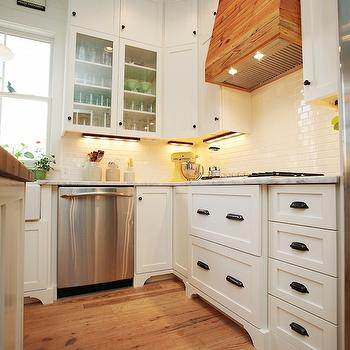 Under cabinet tv transitional kitchen christina for White kitchen cabinets with oil rubbed bronze hardware