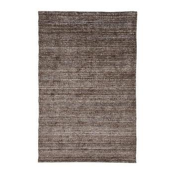 Rugs - Charcoal Art Silk Rug I Ethan Allen - gray silk rug, dark gray silk rug, charcoal gray silk rug, solid charcoal gray rug,