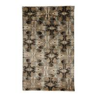 Rugs - Modern Ikat Rug I Ethan Allen - ikat rug, neutral ikat rug, gray black and gold ikat rug,