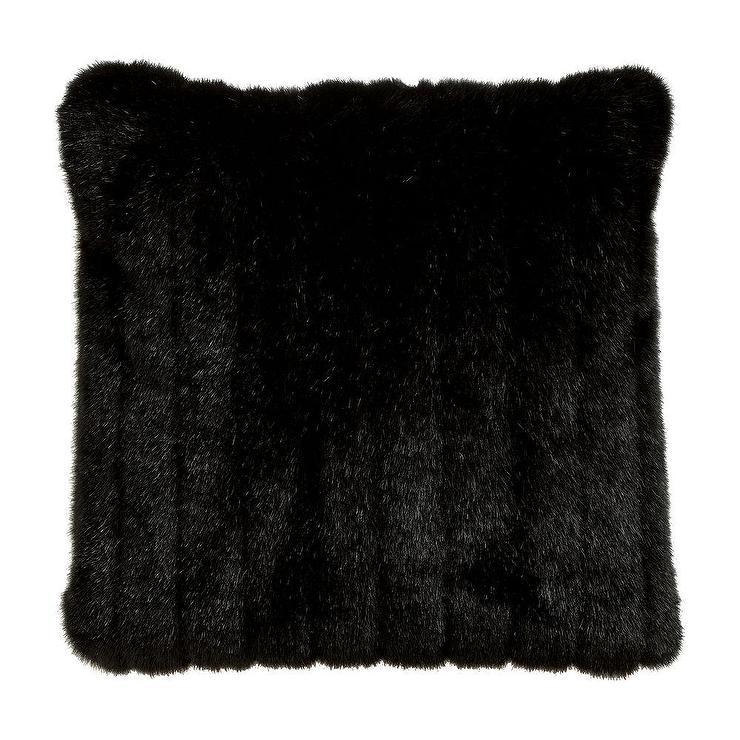 Black Mink Faux Fur Pillow I Ethan Allen