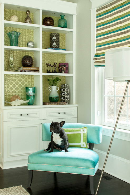 Turquoise Accent Chair - Contemporary - living room ...