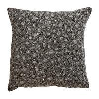 Pillows - Metallic Bead Pillow I Ethan Allen - charcoal beaded pillow, dark gray beaded pillow, silver and gray beaded pillow,