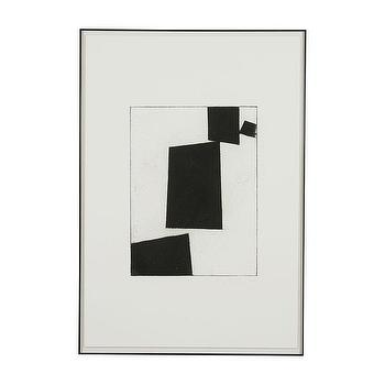 Art/Wall Decor - Modern Abstract ll I Ethan Allen - black and white framed art, black and white abstract, black and white framed abstract,