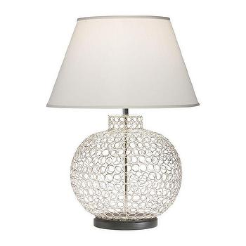 Lighting - Openweave Nickel Table Lamp I Ethan Allen - polished nickel openweave table lamp, polished nickel wire table lamp, contemporary polished nickel table lamp,