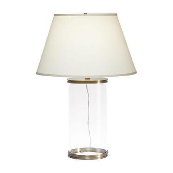 Lighting - Aliyah Brass Table Lamp I Ethan Allen - glass column table lamp, glass and brass column table lamp, contemporary glass and brass table lamp,