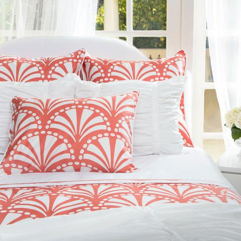 Bedding - The Clementina Coral Duvet Set | Crane & Canopy - coral bedding, designer bedding, duvet, duvet cover