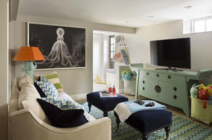 playroom in basement contemporary basement liz caan interiors