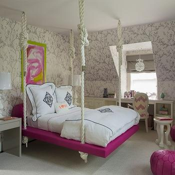 Kids Hanging Bed, Contemporary, girl's room, Liz Caan Interiors
