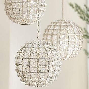 Miscellaneous - Gemma Beaded Globe Tealight Holder | Pottery Barn - beaded hanging tealight holder, clear beaded hanging tealight holder, beaded round hanging tealight holder,