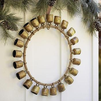 Miscellaneous - Rustic Bell Wreath | Pottery Barn - bell wreath, rustic bell wreath, mini bell wreath,