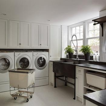 Laundry Room in Basement, Transitional, laundry room, Liz Caan Interiors