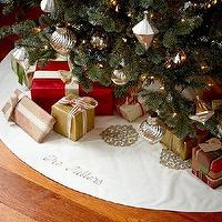 Miscellaneous - Gold & Silver Tree Skirt | Pottery Barn - silver and gold treeskirt, silver and gold christmas treeskirt, silver and gold snowflake treeskirt,