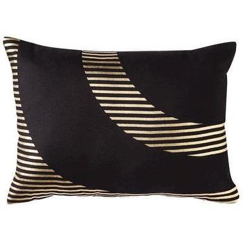 Pillows - Nate Berkus Oblong Gold Foil Pillow I Target - modern black and gold foil pillow, black and gold foil pillow, oblong black and gold pillow,