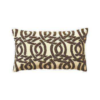 Pillows - Beaded Highland Knot Pillow Cover Gold | Serena & Lily - gold and brown geometric pillow, gold and brown celtic knot pillow, celtic knot pillow, beaded celtic knot pillow,