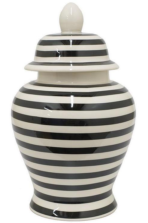 Striped Temple Jar Homedecorators Com