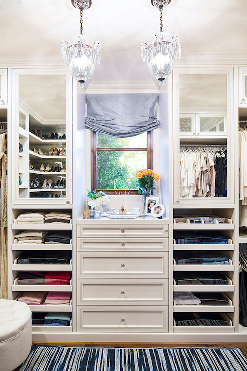 Pull Out Drawers Transitional Closet LA Design
