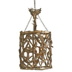 Currey and Company Driftwood Hanging Lantern I 1 Stop Lighting
