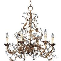 Lighting - Maxim Lighting 6 Light Chandelier I 1 Stop Lighting - gold chandelier with crystal droplets, gold floral chandelier with crystal droplets, antiqued gold vine chandelier with crystal droplets,