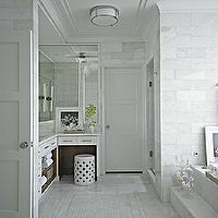 L shaped vanity design decor photos pictures ideas for L shaped master bathroom layout