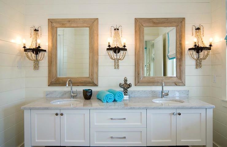 Beaded Sconces - Cottage - bathroom - Romair Homes
