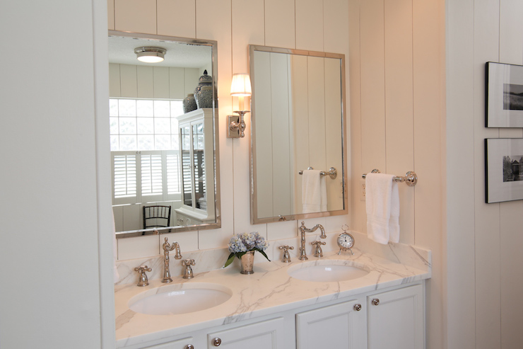 Vertical Wall Panels Cottage Bathroom Lauren Leonard