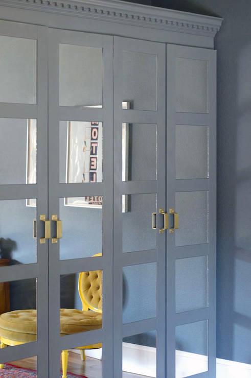 Mirrored Wardobe Contemporary Closet Benjamin Moore