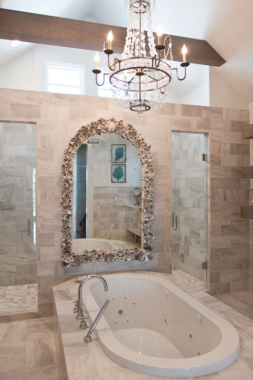 His And Her Shower Cottage Bathroom Romair Homes