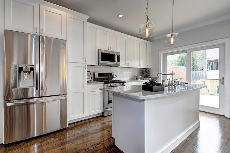 Shaker Cabinets Transitional Kitchen Haute Indoor