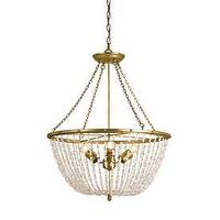 Lighting - Currey and Company Bijou Three Light Chandelier I 1 Stop Lighting - clear crystal beaded chandelier, gold and clear crystal beaded chandelier, gold chandelier with crystal beading,