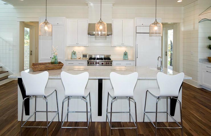 Scoop Back Barstools Cottage Kitchen Romair Homes