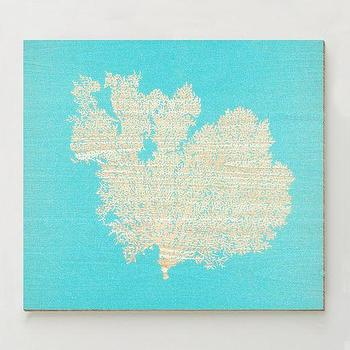 Art/Wall Decor - Birch Print - A�White Coral | west elm - coral art print, turquoise coral art, turquoise and white coral wall art,