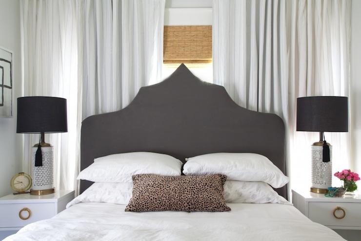 Bed In Front Of Window Hollywood Regency Bedroom