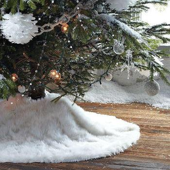 Miscellaneous - Faux-Fur Tree Skirt | west elm - faux fur tree skirt, white faux fur tree skirt, faux fur christmas tree skirt,