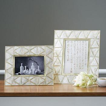Decor/Accessories - Capiz Frames | west elm - capiz frame, capiz shell frame, geometric capiz shell frame,
