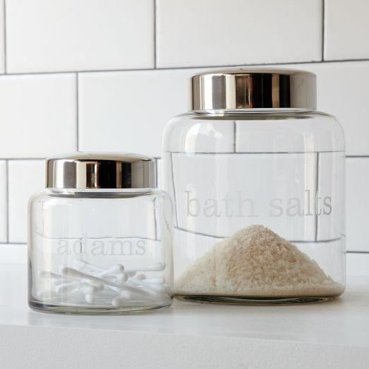 Apothecary jars west elm - West elm bathroom storage ...