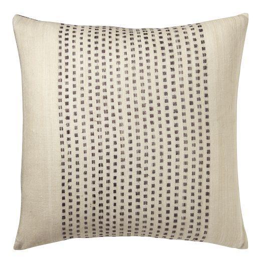 embroidered dot silk pillow cover slate west elm. Black Bedroom Furniture Sets. Home Design Ideas