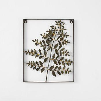 Art/Wall Decor - Metal Fern Wall Art -Lace | west elm - metal fern wall art, metal fern wall decor, fern frond wall art,
