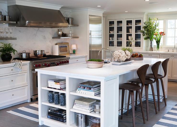 island bookcase cottage kitchen sage design