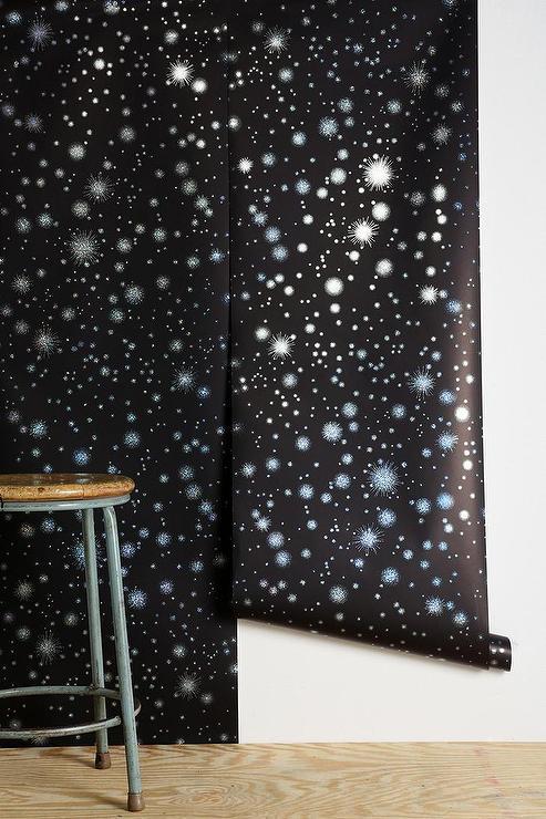 graham brown star struck wallpaper i urban outfitters. Black Bedroom Furniture Sets. Home Design Ideas