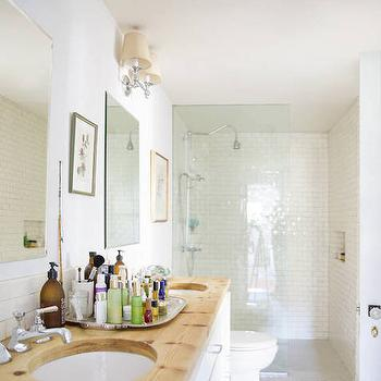 Long Bathroom, Transitional, bathroom, Domino Magazine