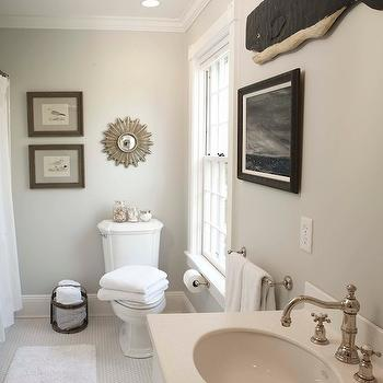 Edgecomb Gray, Traditional, bathroom, Benjamin Moore Edgecomb Gray, Beach Glass Interior Designs