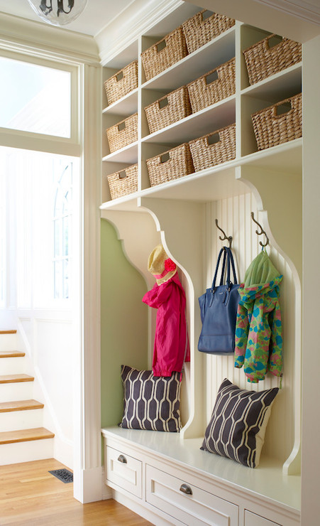 mudroom shelving traditional laundry room oak hill
