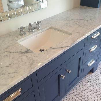 Blue Vanity, Contemporary, bathroom, Tracery Interiors